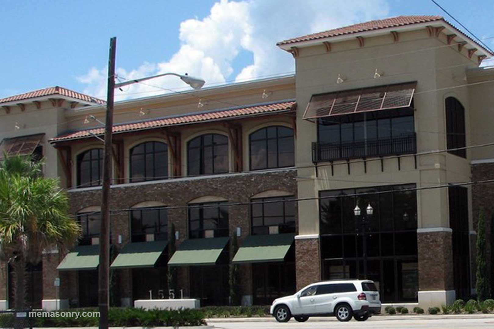 M&E Masonry & Sons brick office building project in Jacksonville FL