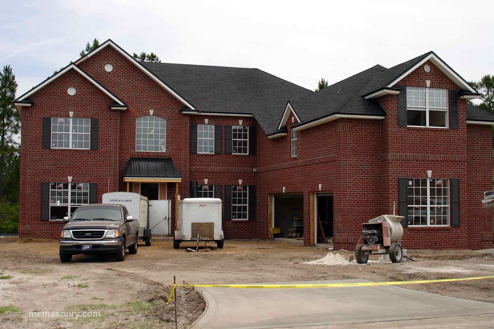 brick house built by M&E Masonry & Sons, Inc.
